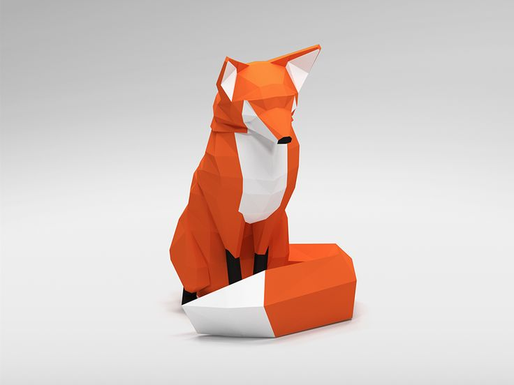Low poly fox by George Will