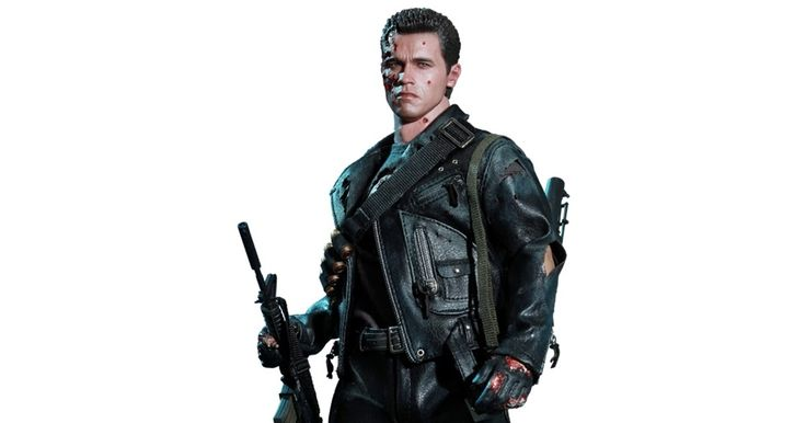 Terminator 2: Judgement Day: Terminator - T-800 (Battle Damaged Version) 1/6th Scale Figure (Arnold Schwarzenegger)