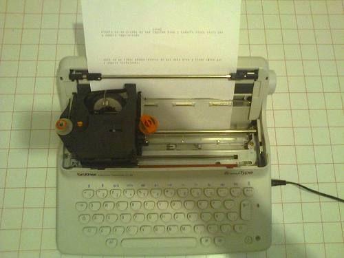 maquina de escribir electrica brother