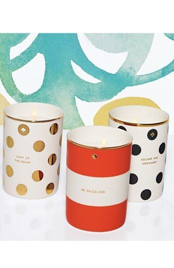 Spotted & striped candles by Kate Spade New York