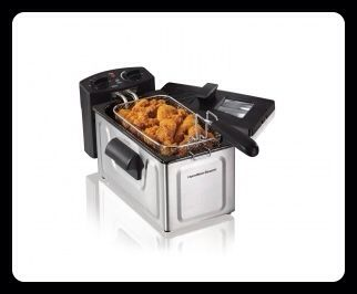 Get restaurant style 'CRISP' in your own home with this Hamilton Beach deep fryer. This 8 cup oil capacity deep fryer makes crisp and succulent fried foods just right...EVERY time! SOMEONE WILL WIN! January 24th at the F.O.E!    #IWillJustWatchMe #Cancer #Lymphoma #Fighter #NoOneFightsAlone #TheresasTomorrow #fundraiser #funraiser #raffle #prizes #fun #food #deepfryer #restaurantstyle