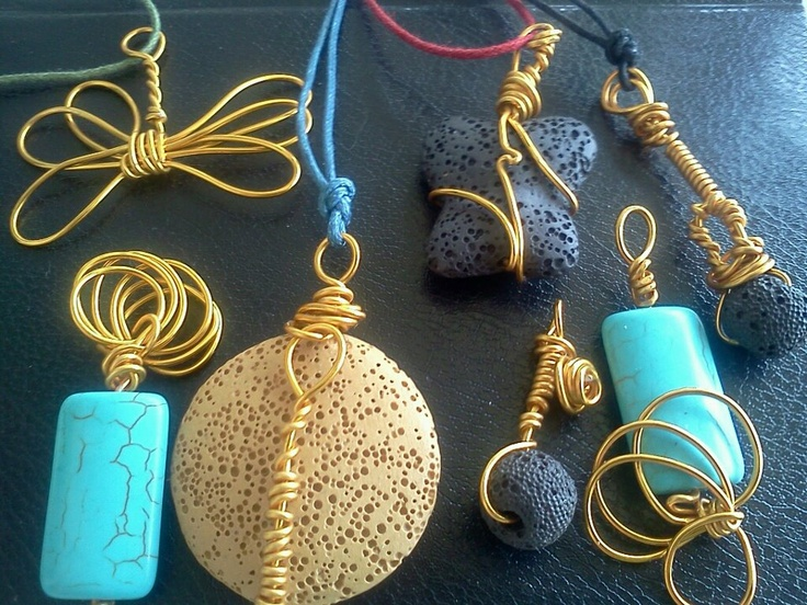 athina handmade jewel -   necklaces with semi precious stones
