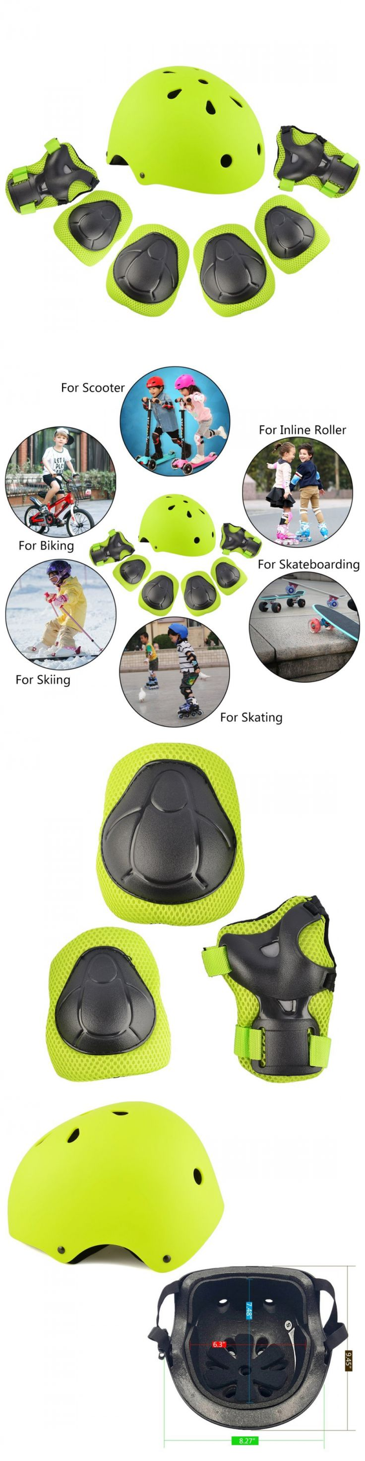 Protective Gear 16260: Protective For Kids Knee Pads And Helmet Skateboard Bicycle Scooter Roller Skate -> BUY IT NOW ONLY: $31.86 on eBay!
