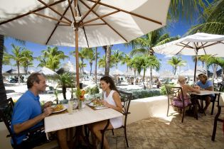 Lunch with a view at Occidental Grand Aruba is a lunch I won't forget. The beauty surrounds you everywhere. #aioutlet #Aruba