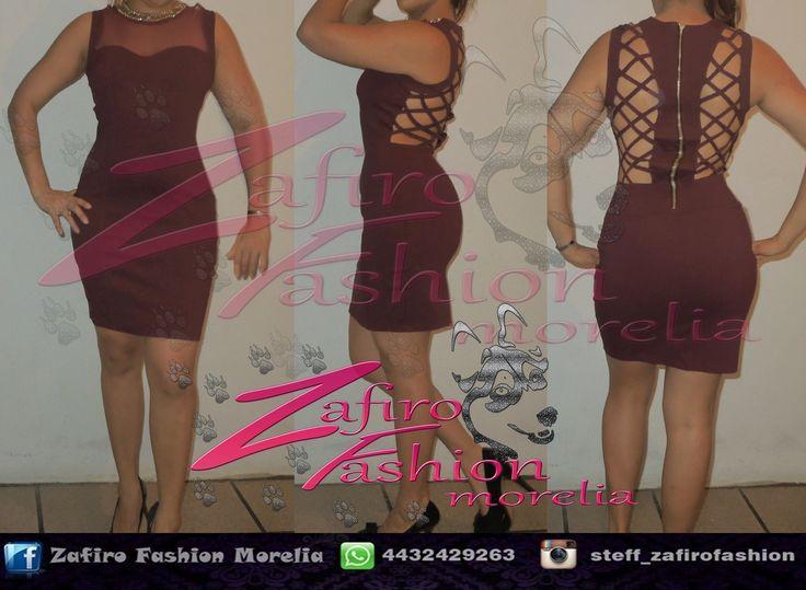 Vestido tipo coctel escote en espalda encuentralo en  ♥ facebook www.facebook.com/Zaf.girl/  ♥ Instagram en @steff_zafirofashion  ♥ whats: 4432429263 #zafirofashionmorelia #ilovezafiro #VestidoVino  #VestidoEscote #EscoteEspalda #Sexy