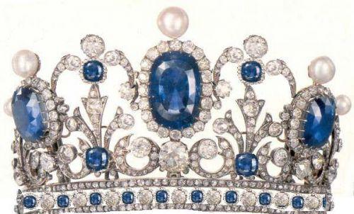 french sapphire tiara