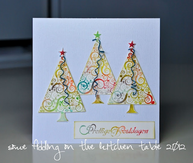 Some fiddling on the kitchen table: Christmas @ Art Journey #5