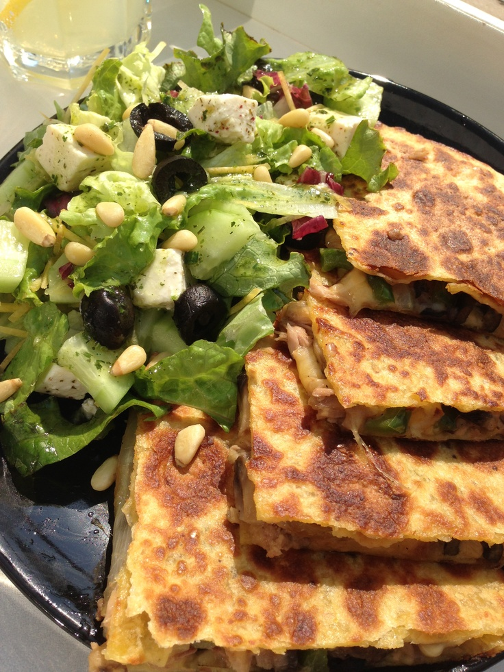 Quesadillas with tuna
