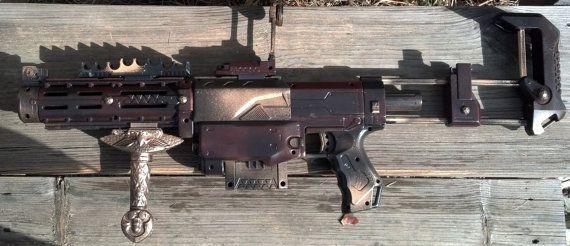 Steampunk Nerf Recon Shotgun Rifle Prop Gun HvZ via Etsy