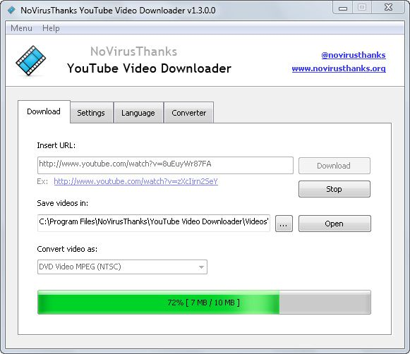 Italian company NoVirusThanks is specialized in different security related products and services. A month ago I wrote about NoVirusThanks MD5 Checksum Tool. They have also made some different kind of software. An example is NoVirusThanks YouTube Video Downloader. Although in its early phase the software is already powerful and its FREE. It can download videos from online video sites: Youtube, Metacafe, Vimeo, DailyMotion & Blip.
