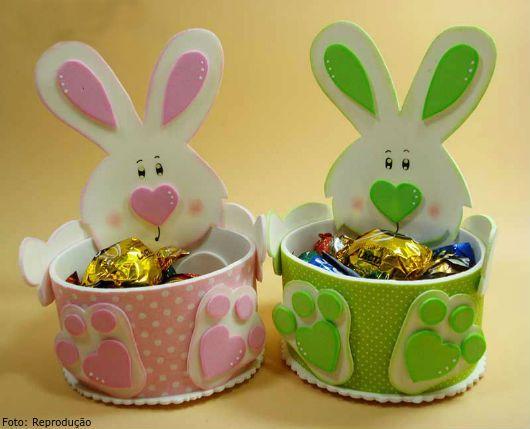 Comment EVA paniers avec des moules pour Pâques
