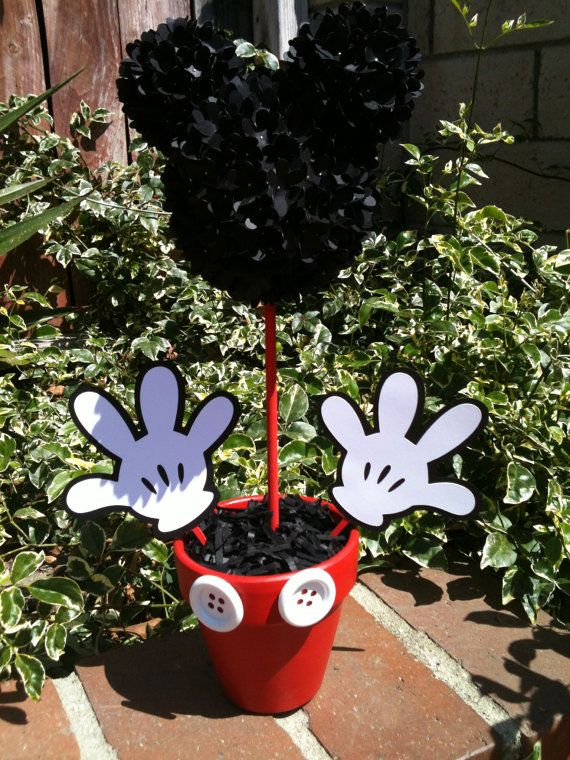 Mickey Mouse Centerpiece Mickey Mouse Party by MyCraftySides, $25.00