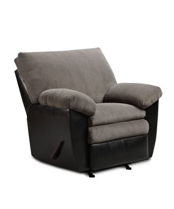 370 Simmons Lancaster Black Champion Charcoal Recliner
