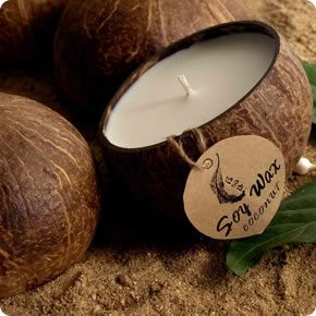 For the fun Outdoor Princess in your life why not give her a Scented Coconut Shell Soy Candle. $20