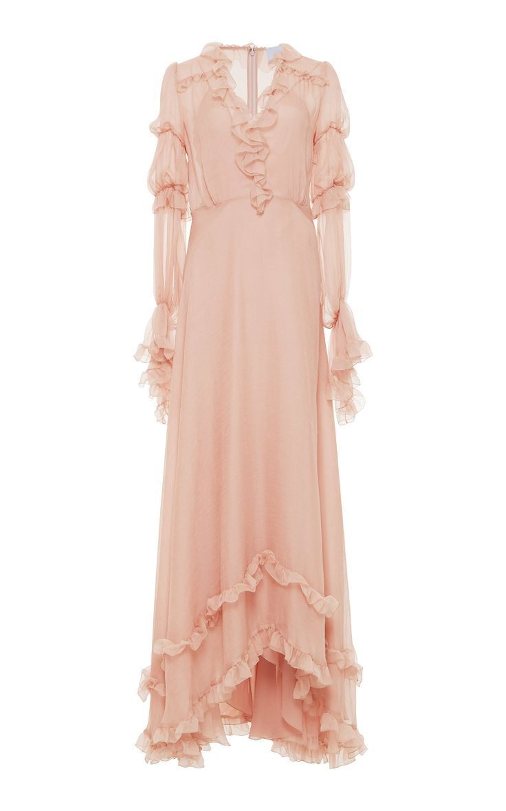 Flounce Full Length Dress by LUISA BECCARIA for Preorder on Moda Operandi