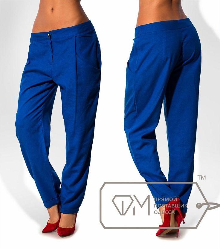 Синие женские брюки ФМ 6850