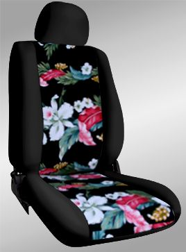 Hawaiian Seat Covers (Black with Floral Black) - Since I may be getting my Jeep back in time for my birthday...