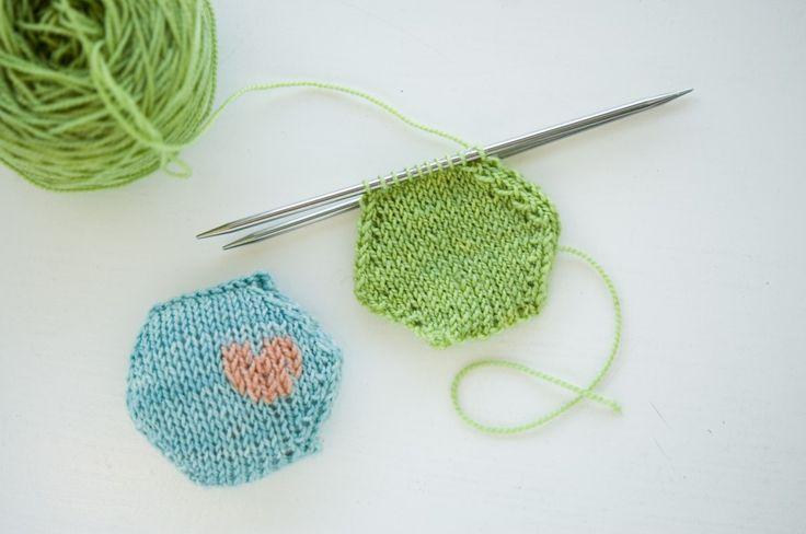 Hexipuff Duplicate Stitch That little heart is so sweet