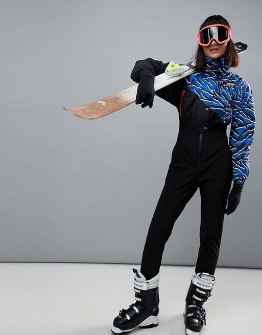 999f08a0880 4505 SKI Jumpsuit In Zebra Print With Funnel Neck Detail