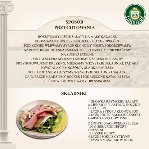 Lukullus poleca przepis na:  Sałatę rzymską z karmelizowanym boczkiem!