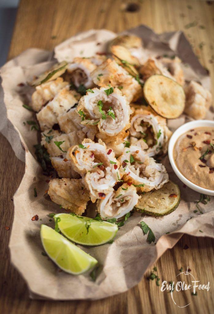 Salt and Pepper Squid / Жареные кальмары с солью и перцем #squid #recipe #deep_fried #fried #foodblog #blog #evilolivefood #evilolive #блог #кулинарный блог #кальмар #жареный_кальмар #рецепт