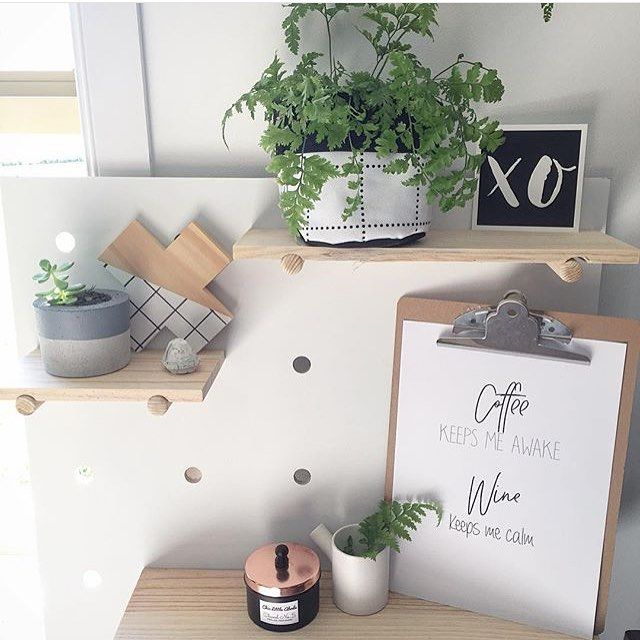 @chiclittleabode's pegboard  I will never get tired of seeing all the amazing and creative ways people style these!