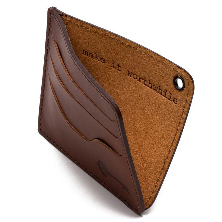 Carteira em Couro Soleta - Wallet Card Holder Caramel | Key Design - Key Design