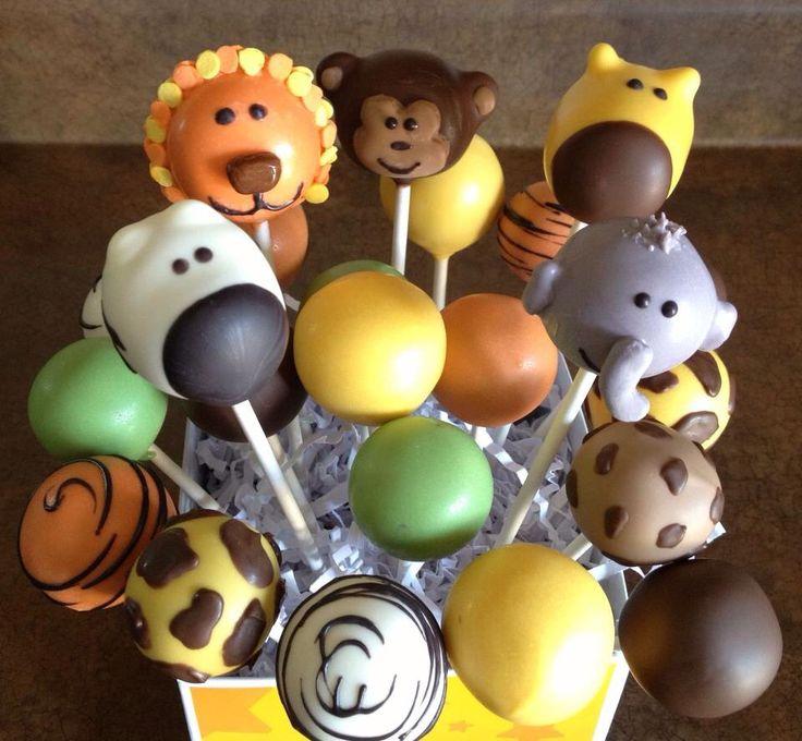 Zoo safari theme cake pops By Haute Pop Couture