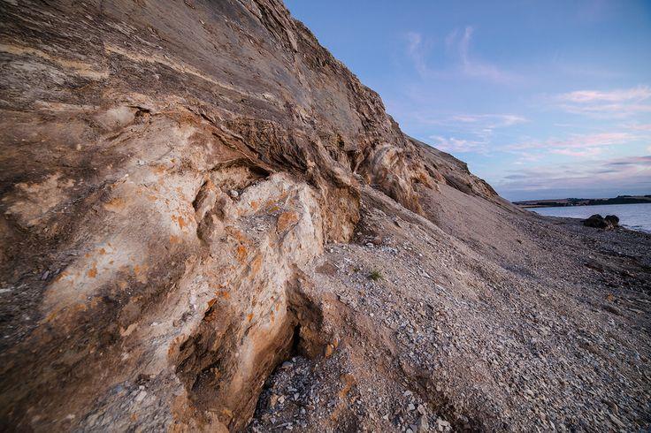 Hanklit cliff at the fjord on Mors