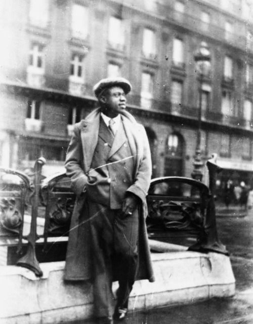 Louis Armstrong in Paris 1934.