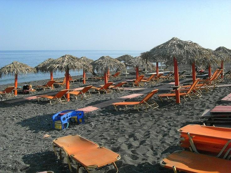 Perissa Beach. Santorini, Greece