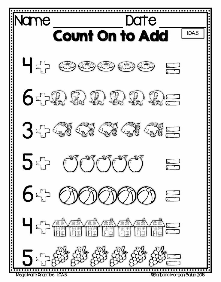 Number sense:  First Grade math counting on!