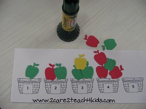 Apples- Preschool Themes- 2care2teach4kids