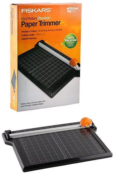 Cutters and Trimmers 183174: Fiskars 12 Inch Rotary Precision Paper Trimmer 12 Sheet Cutting Capacity -> BUY IT NOW ONLY: $44.99 on eBay!