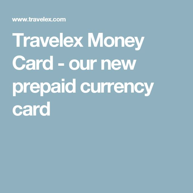 Travelex Money Card - our new prepaid currency card