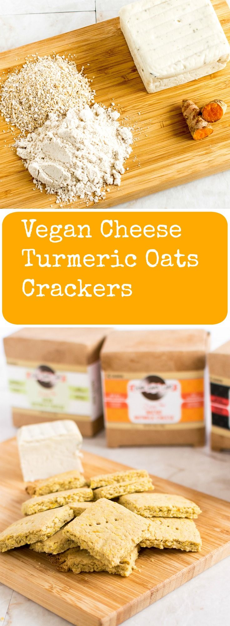 Vegan Cheese Turmeric Oats Crackers + GIVEAWAY! Enjoy baking these crispy crackers and enter the GIVEAWAY contest to win vegan flavored vegan cheese   kiipfit.com
