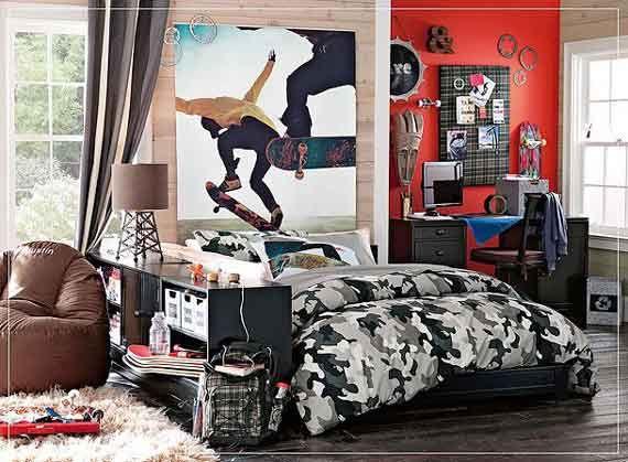 Skateboard bedroom canvas poster surf skate bedroom for Boys skateboard bedroom ideas