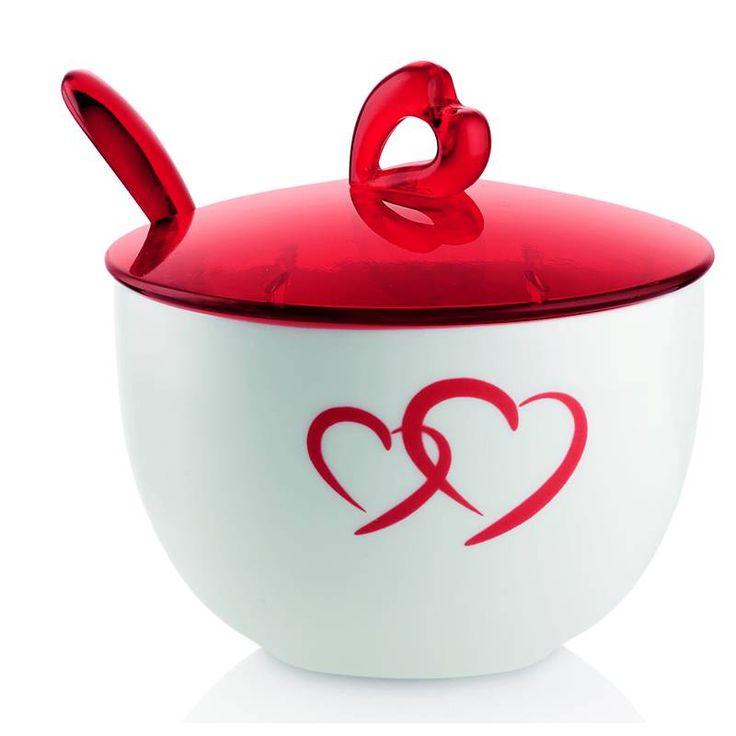 Zuccheriera con Cucchiaino Love Guzzini design, Setsu & Shinobu Ito | Guzzini | Stilcasa.Net: bomboniere