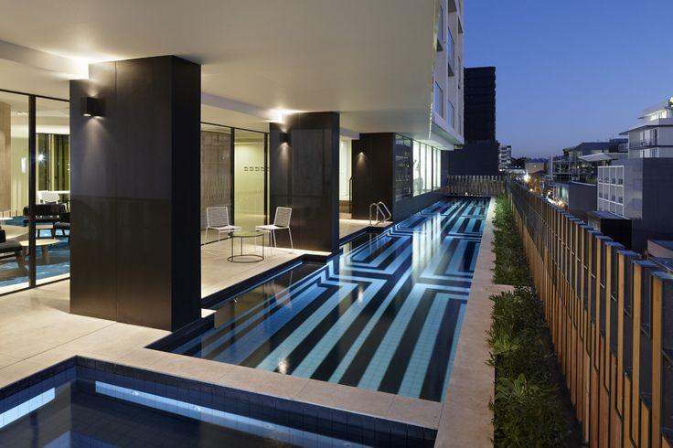 lap pool, The Claremont - Bird de la Coeur Architects Photo Dianna Snape