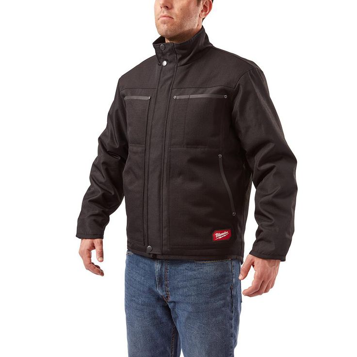 Men's Extra-Large Black Gridiron Traditional Jacket, Size: XL