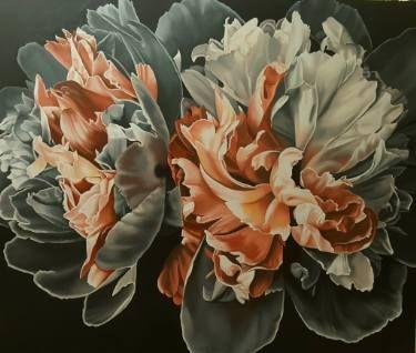 "Saatchi Art Artist Luigi Maria de Rubeis; Painting, ""LOVE OF PEONIES"" #art"