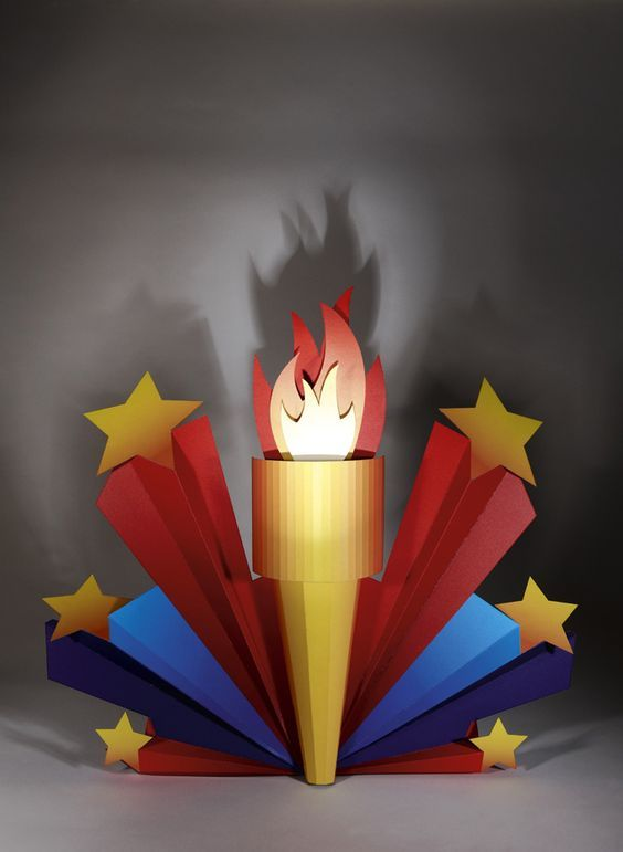 Made By Superior - Cardboard Design.  Olympic Flame: