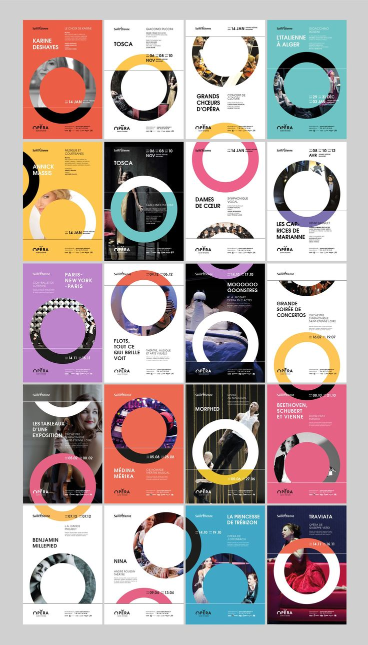 New branding of the Saint-Étienne Opera House. Logo, posters, brochures... And the magic opera(te)...