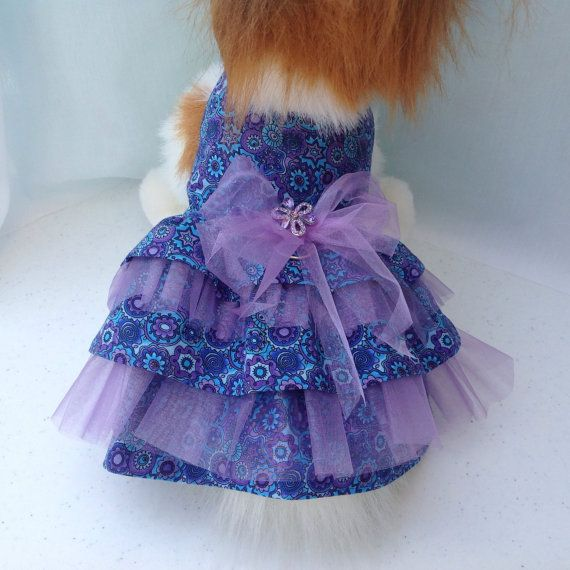 Purple & Turquoise Organza Ruffled Special by princessamee on Etsy, $32.00