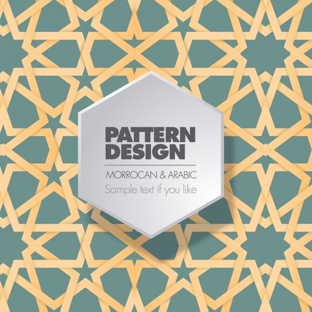 Moroccan and arabic pattern design Free Vector