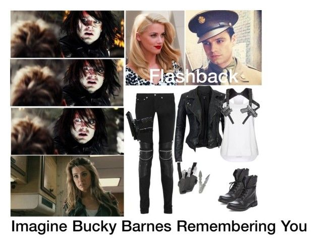 """Imagine Bucky Barnes Remembering You"" by alyssaclair-winchester ❤ liked on Polyvore featuring Yves Saint Laurent, MuuBaa, STELLA McCARTNEY, Steve Madden, imagine, Avengers, marvel, buckybarnes and TheWinterSoldier"