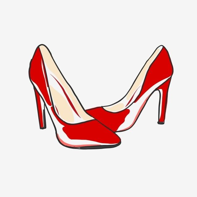 Red High Heels Doodle Vector High Heel Clipart Fashion Illustration Png And Vector With Transparent Background For Free Download Heels Red High Heels Shoes Vector