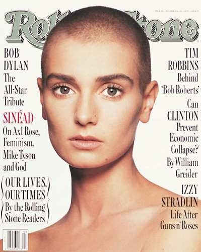 Sinead O'Connor ... okay maybe I wouldn't go this far. I still think she totally rocks the look. Gorgeous!