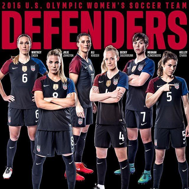 Your 2016 U.S. Olympic Women's Soccer Team Defenders. #OneNationOneTeam
