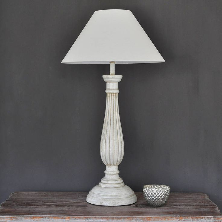 Antique ivory ribbed wooden table lamp by primrose plum notonthehighstreet com